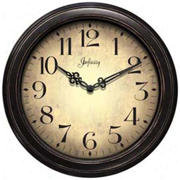 """the Precedent Wall Clock - 12""""d, Black"""
