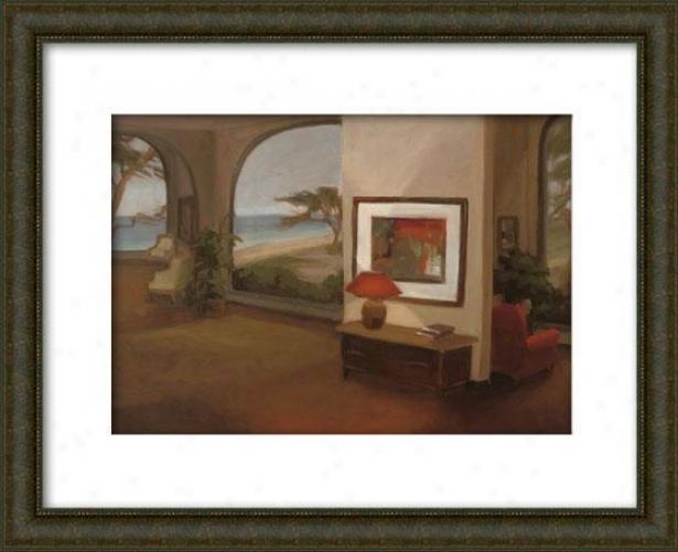 The Terrace Room Ii Framed Wall Art - Ii, Matted Burlwood