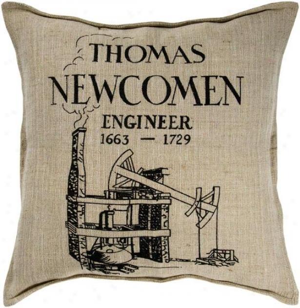 """thomas Decorative Pillow - 18""""x18"""", Ivory"""