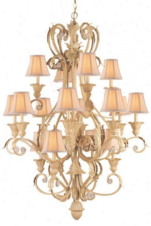 """three-tier Hand-painted Chandelier - 48""""hx44""""w, Convert into leather"""