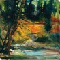 A Walk In The Woods Ii Canvas Wall Art - Ii, Gold