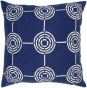 """circuit Pillow - 18""""x18"""", Blu""e"
