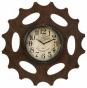 """cog Wall Clock - 20.5""""d, Brown"""