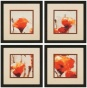 In Sync Wall Art - Set Of 4 - Set Of 4, Orange/ivory