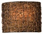 """knotted Rattan 1-light Wall Sconce - 9""""hx7""""w, Coffee Brown"""