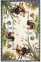 Roosters Area Rug - 6'x9', Ivory