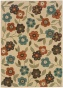 """""""summertime All-weather Area Rug - 7'10"""""""" Round, Ivory"""""""
