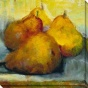 """sun Bathing Pears Canvas Wall Art - 40""""hx40""""w, Gold"""