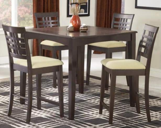 Tiburon 5-piece Gathering Set - 5-piece Set, Coffee Brown