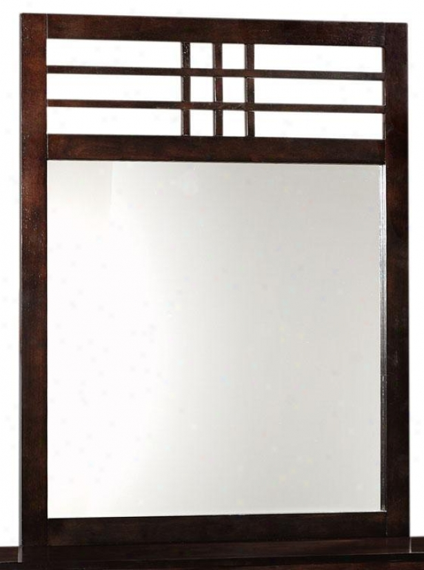 """tiburon Woor Mirror - 43.25""""hx33.75""""w, Coffee Brown"""