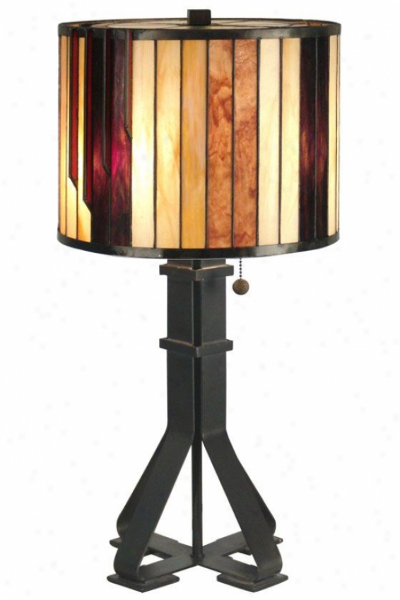 """tiffany 26""""h Table Lamp - 26h X 13.5""""d, Dark Antq Bronz"""