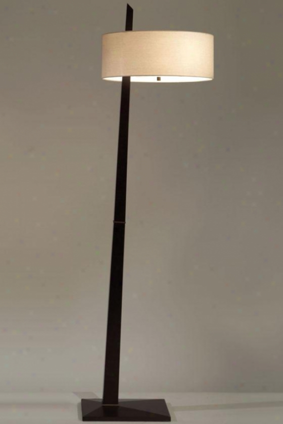 """tilt Floor Lamp - 68""""hx18""""round, Brown"""