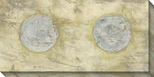 Tilt I Canvas Wall Art - I, Wgite
