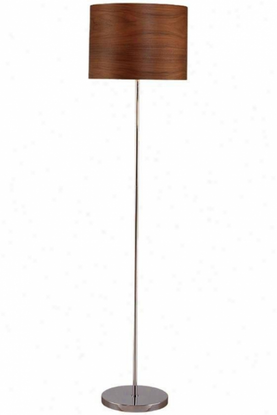 """timberly Floor Lamp - 59.75""""hx15""""d, Silver Chrome"""