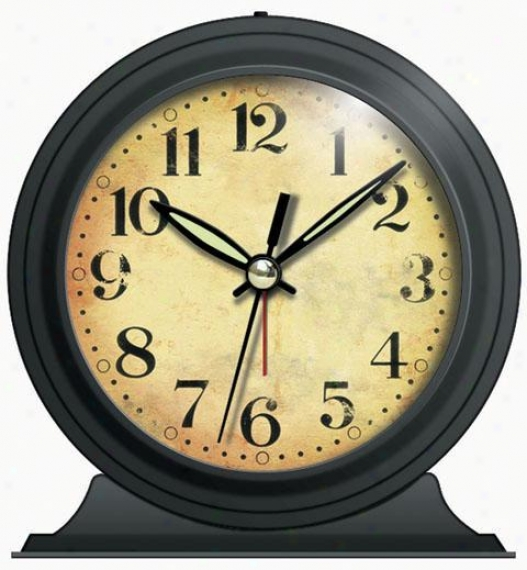 """Clock - Antique Look Black Metal Alarm Clock - 5""""hx5.5""""w, Black"""