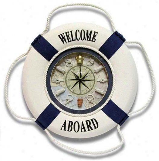 Timepiece - First Mate Wall Clock - Wall, White