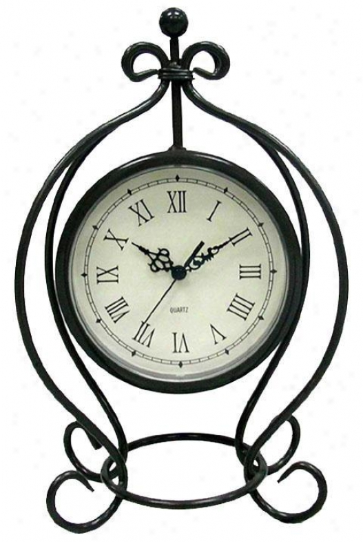 Timepiece - Iron Table Clock - Table, Grey
