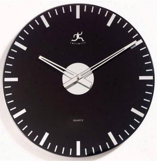 Timepiece - Mirrored Class Wall Clock - Wall, Black