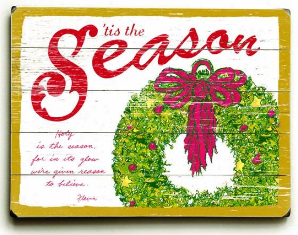 """""""tis The Season Art - 18""""""""hx24""""""""w, Holiday Multi"""""""