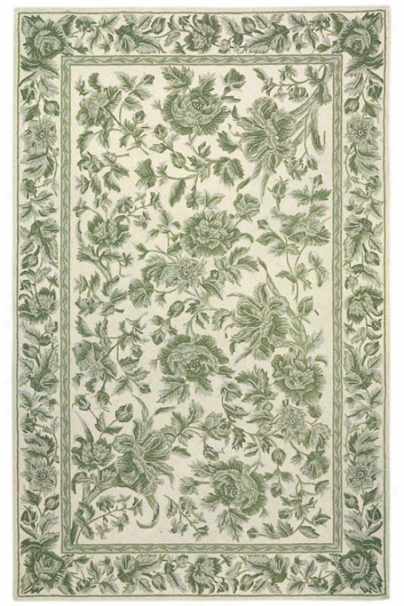 """toile Area Rug - 2'6""""x4'2"""", Green"""