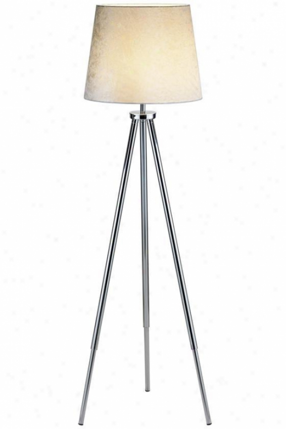 """toulouse Floor Lamp - 64""""hx18""""w, Silver Chrome"""
