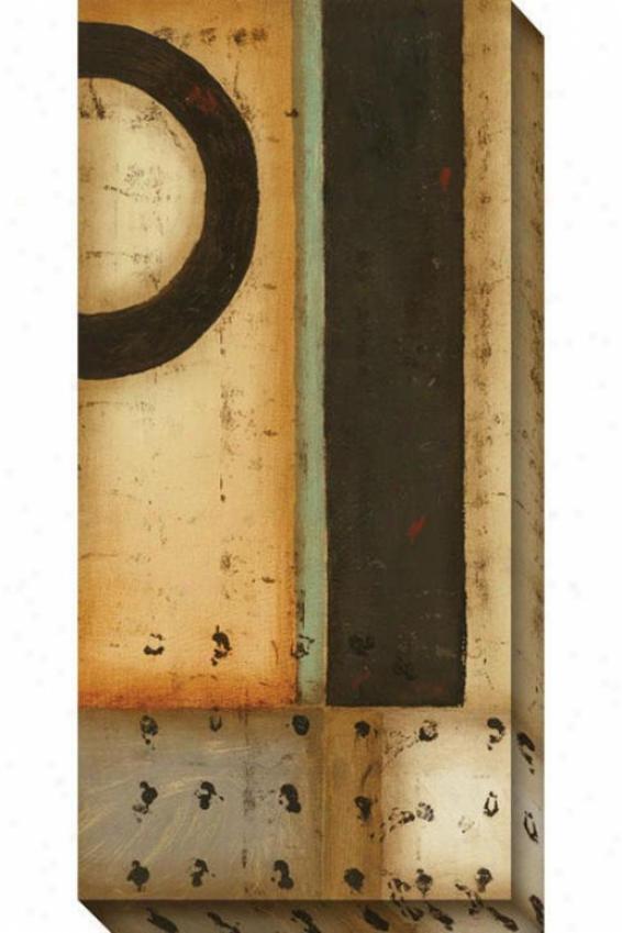 Traces I Canvas Wall Art - I, Beige