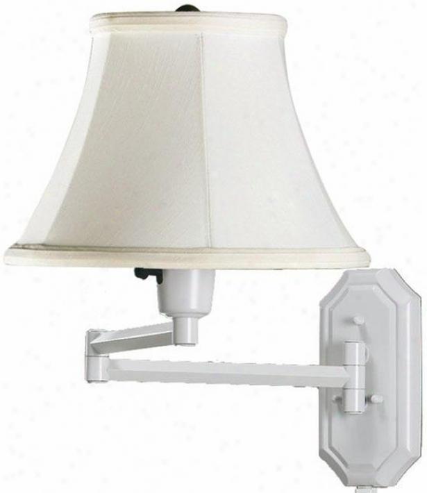 Traidtional Swing-arm Pin-up Lamp - White, White