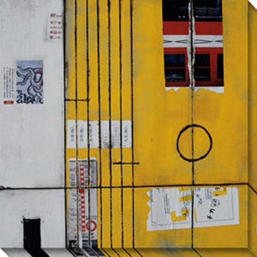 Transit Ii Canvas Wall Art - Ii, Yellow