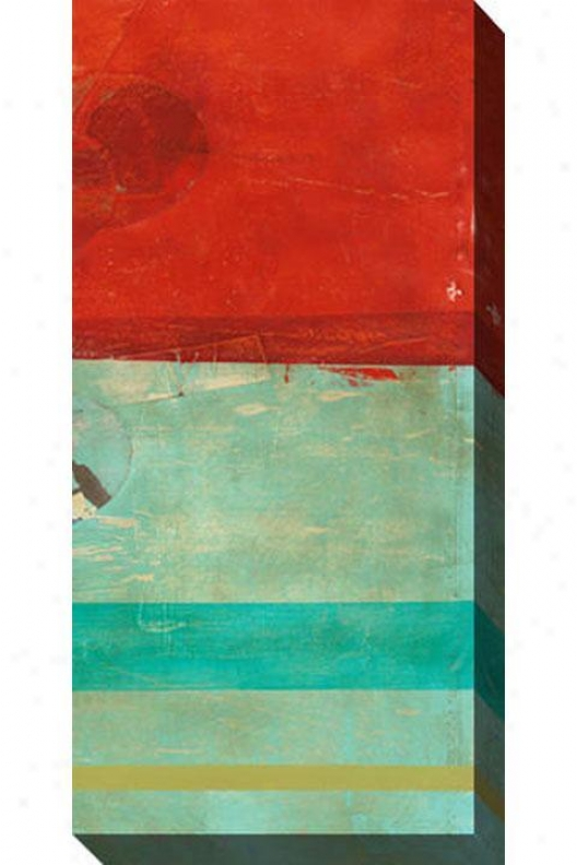 """transitory Canvas Wall Art - 24""""hx48""""w, Red"""