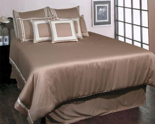 Trapeze Comforter Set - Queen, White