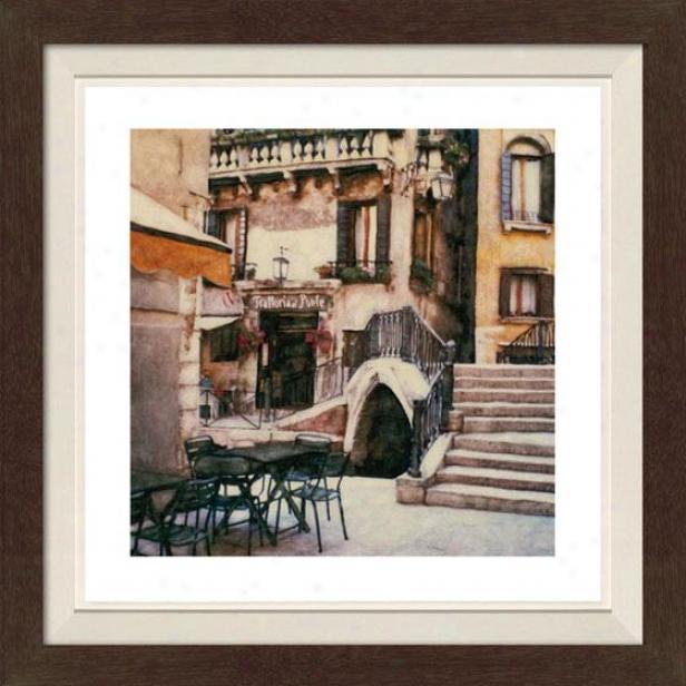"""""""trattoriaA l Ponte Framed Wall Art - 30""""""""hx30""""""""w, Fltd Espresso"""""""