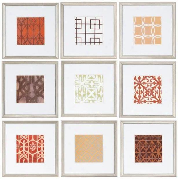 Trelois Wall Art - Set Of 9 - Set Of 9, Earthtones