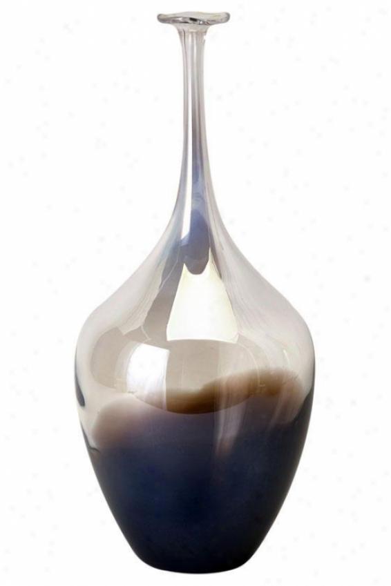 """""""tresa Bottle - 15.5""""""""x7""""""""d, Clear/purple"""""""