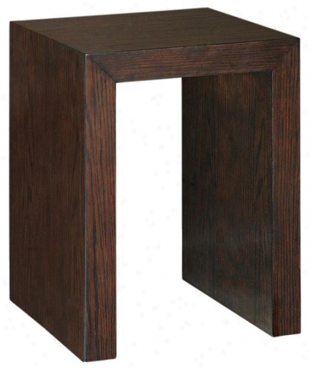 Trevor U-shaape Accent Table - U-shape, Brown