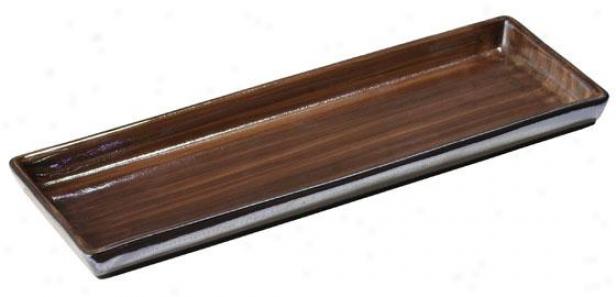 Tribeka Bath Small trough - Tray, Chocolate Brown