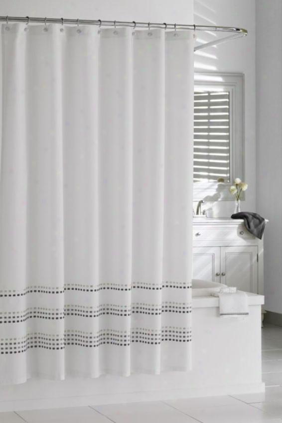 """tribeka Shower Curtain - 72""""hx72""""w, White/stone"""