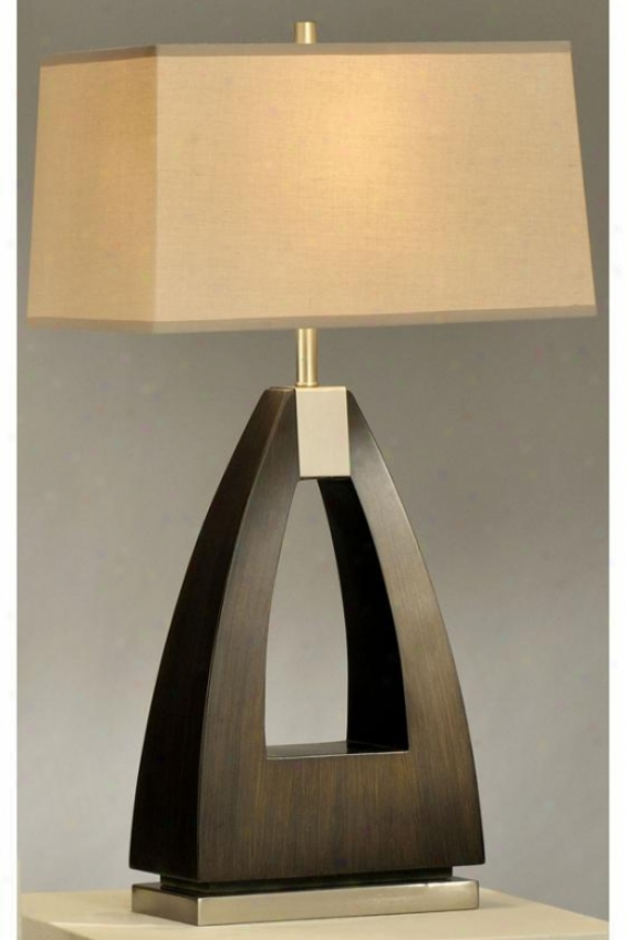 """trina Table Lamp - 30""""h, Pecan Wood"""
