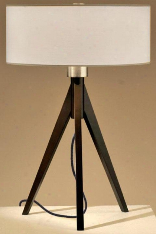 """tripod 22""""h Table Lamp - 22""""h, Dark Wood"""