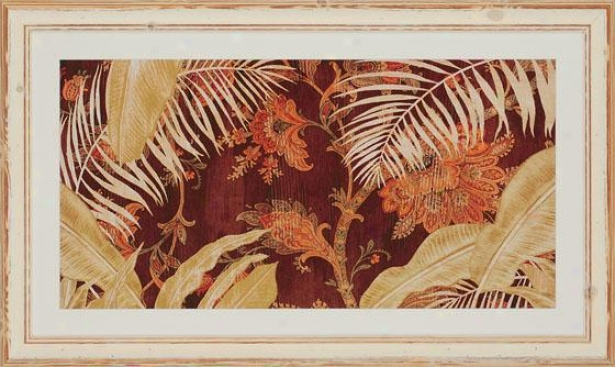 """tropical Haven Wall Art - 29""""hx48""""w, Erthtones"""