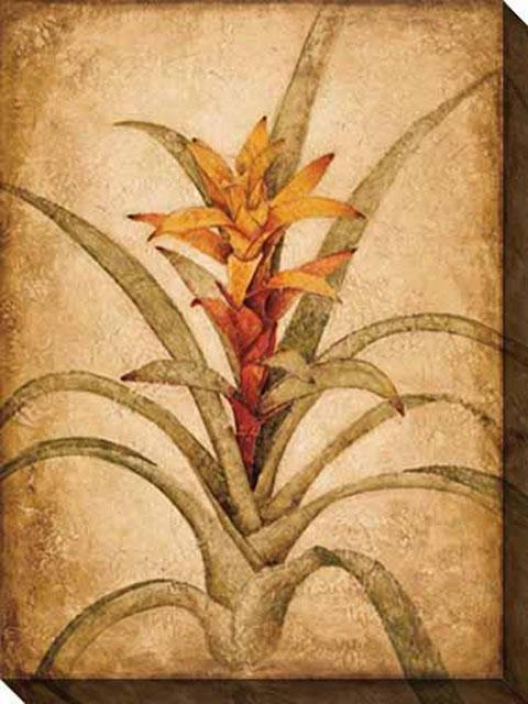 Tropical Study Ii Canvas Wall Art - Ii, Beige