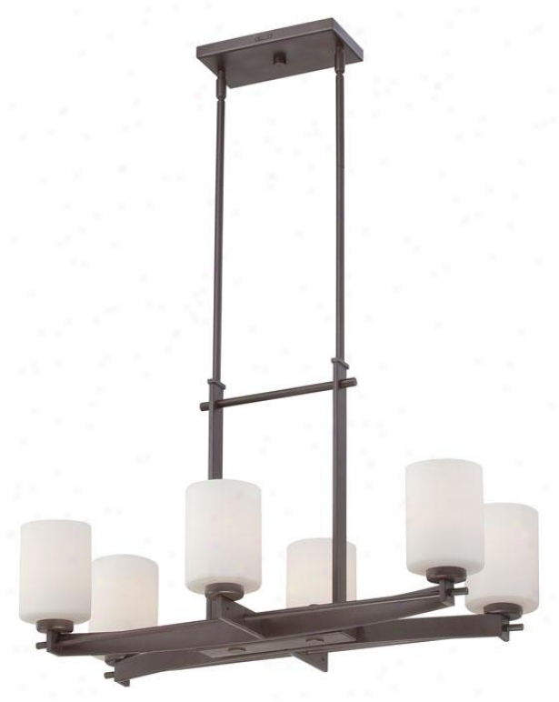 Truman 6-light Island Chandelier - 6-light, Western Bronze