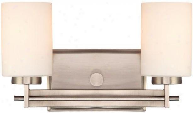 Truman Rectangular 2-light Vanity Light - 2-light/rctngl, Nickel