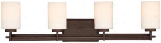 Truman Rectangular 4-light Vanity Light - 4-light/rctngl, Western Bronze