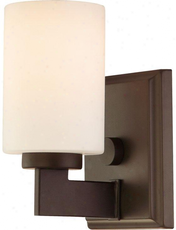 Truman Square Bath Scconce - 1-light/squarr, Western Bronze