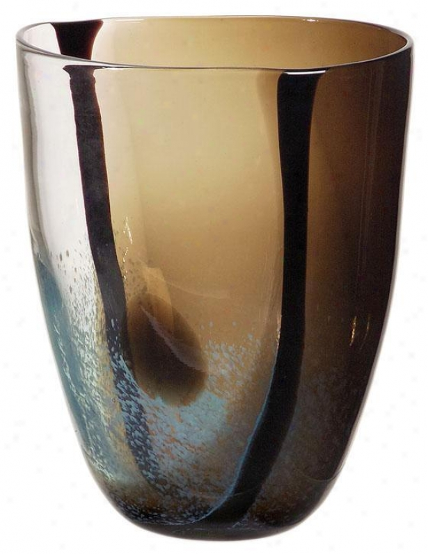 Tsiari Glass Vase - Small, Brown