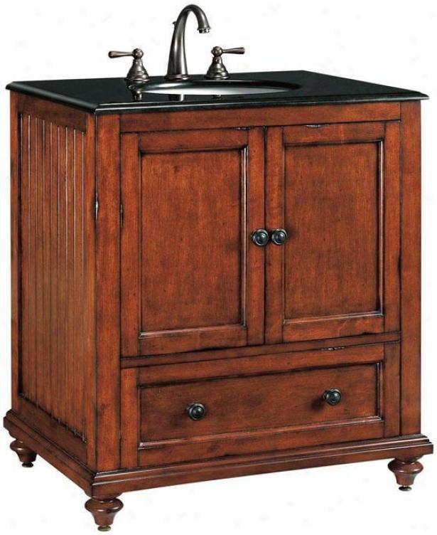 """tucker Bathroom Vanity - 35""""hx31""""w, Dist Chestnut"""