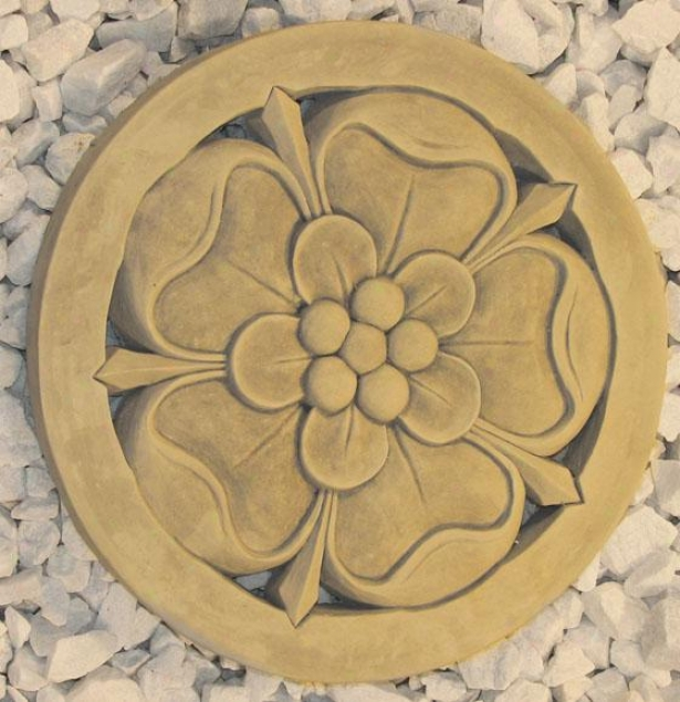Tudor Rose Stepstone - 1hx11.75wx11.75, Bronzs