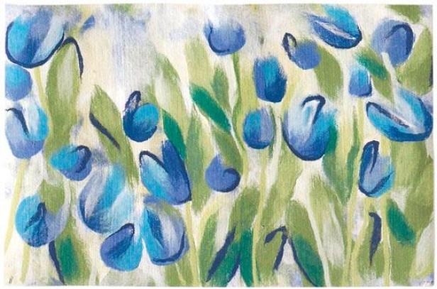 """""""tulips Mat - 20""""""""x30"""""""", Blue"""""""
