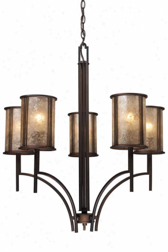 Turlington Chandelier - 5 Light, Bronze Bronze