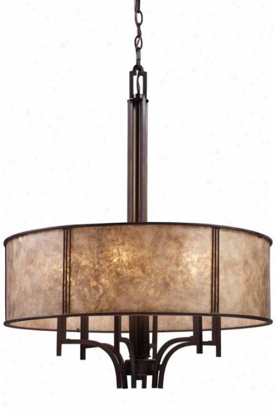 Turlington Pendelier - 6 Light, Bronze Bronze